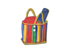 Dill Beach Bag Extra Large Novelty Button Multi Color