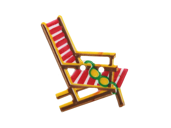Dill Beach Chair Extra Large Novelty Button Multi Color