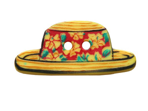 Dill Beach Hat Large Novelty Button Multi Color
