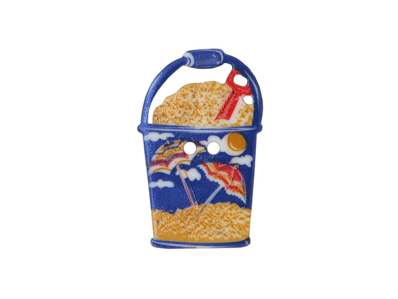 Dill Beach Pail Large Novelty Button Multi Color