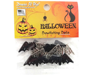Halloween Bewitching Bats Novelty Buttons Dress it Theme Up Pack