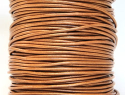 Round Leather Cord 1 mm Diameter Metallic Bronze 50 Meter Spool
