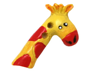 Cheri Strole Giraffe 7/8 inch Novelty Button Yellow Color