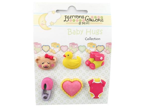 Buttons Galore Sweet Baby Girl Novelty Buttons Baby Hugs Collection