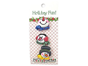 Buttons Galore Snowmen Novelty Buttons Holiday Fun Collection