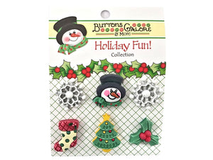 Buttons Galore Winter Wonderland Novelty Buttons Holiday Fun Collection