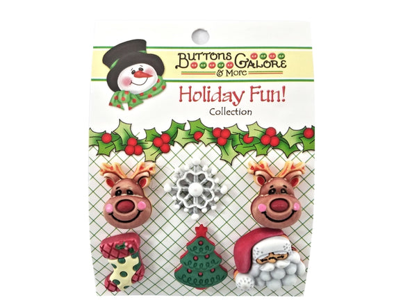 Buttons Galore Reindeer Games Novelty Buttons Holiday Fun Collection