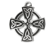 TreasureCast Celtic Cross Large Pewter Pendant Antique Silver Color