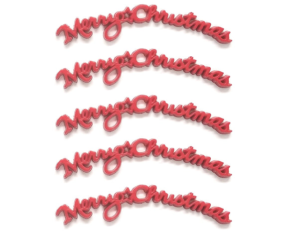 Merry Christmas Wordpiece Novelty Flatbacks Dress It Up Theme Pack