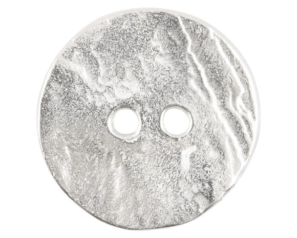 Cornflake 3/4 inch Metal Buttons Silver Color