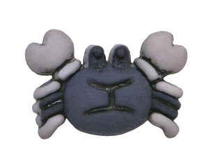 Crab 3/4 inch Novelty Button Blue Color