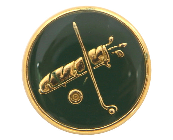 Dill Golf Clubs 9/16 inch Dill Metal Button Gold / Green Color