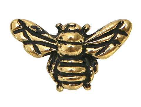 TierraCast Honey Bee 5/8 inch Gold Plated Pewter Bead