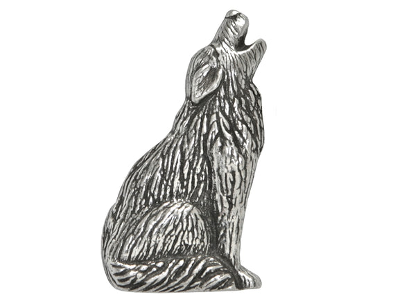 Danforth Howling Wolf 1 inch Pewter Button Antique Silver Color