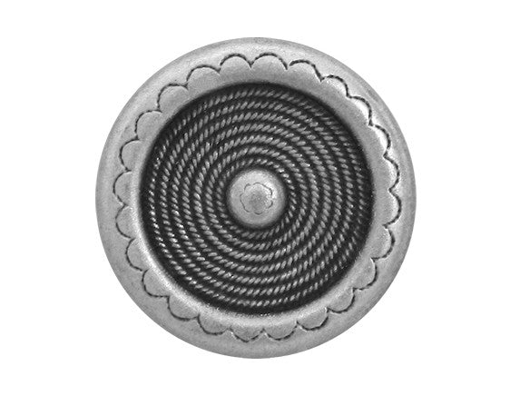 Laramie 5/8 inch Metal Button Antique Silver Color