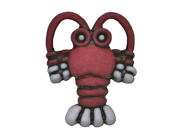 Lobster 3/4 inch Novelty Button Red Color