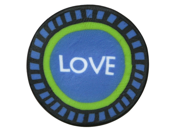Love Large Novelty Button Blue Color