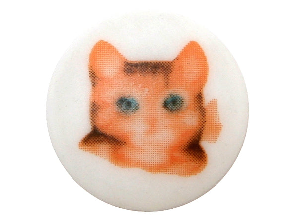 Miss Moppet 5/8 inch Novelty Button Brown Color