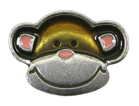 Danforth Monkey 1 inch Pewter Button Antique Silver Color
