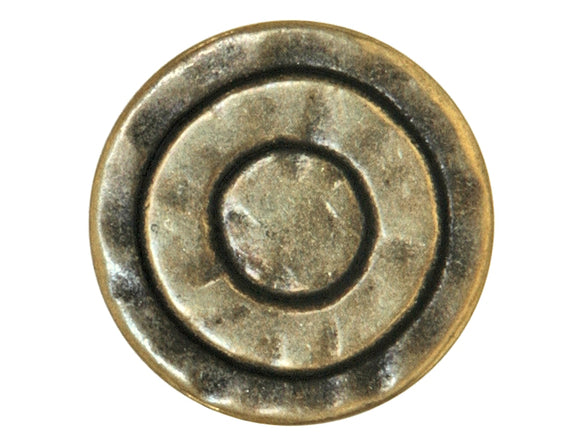 Mystic Rings 5/8 inch Metal Button Light Antique Brass Color