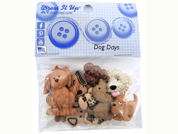 Dog Days Novelty Buttons Dress It Up Theme Pack