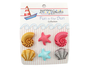 Buttons Galore Beachcomber Novelty Buttons Buttons Galore Theme Pack