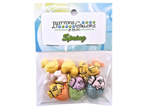 Buttons Galore Chick-A-Dee Novelty Buttons Buttons Galore Theme Pack