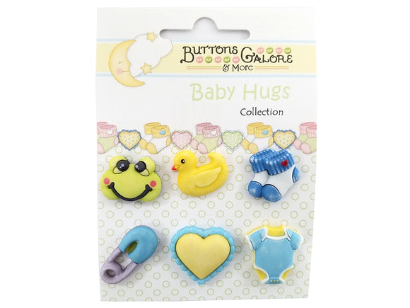 Buttons Galore Little Baby Boy Novelty Buttons Baby Hugs Collection