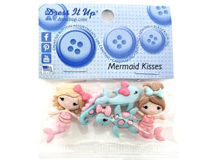 Mermaid Kisses Novelty Buttons Dress It Up Theme Pack