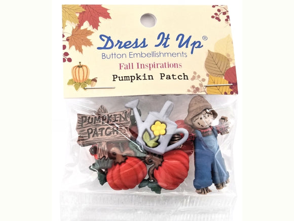 Pumpkin Patch Novelty Buttons Dress It Up Theme Pack