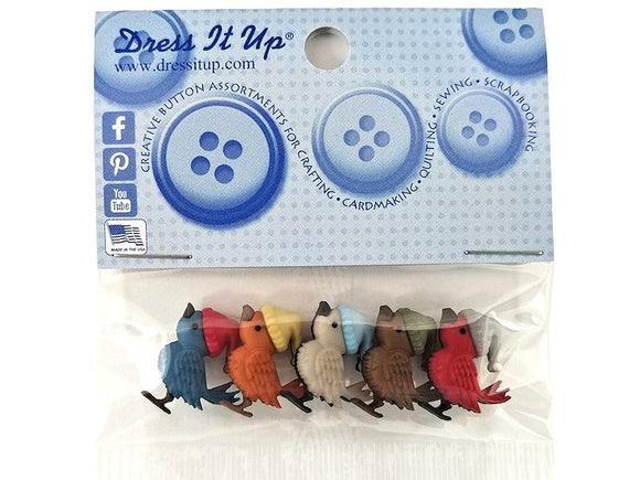 Bye Bye Birdee Novelty Buttons Dress It Up Theme Pack