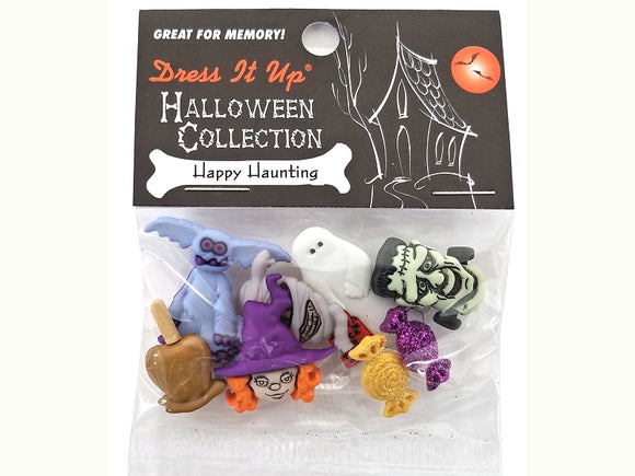 Happy Haunting Novelty Buttons Dress It Up Theme Pack