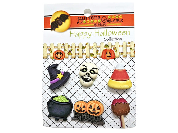 Buttons Galore Witchy Novelty Buttons Happy Halloween Collection