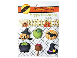 Buttons Galore Witching Hour Novelty Buttons Happy Halloween Collection