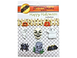 Buttons Galore So Scary Novelty Buttons Happy Halloween Collection
