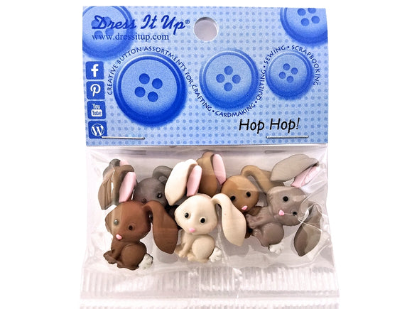 Hop Hop Novelty Buttons Dress It Up Theme Pack