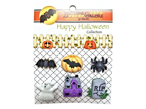 Buttons Galore Happy Hauntings Novelty Buttons Happy Halloween Collection