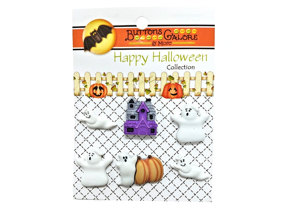 Buttons Galore Boo Buddies Novelty Buttons Happy Halloween Collection