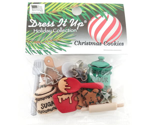 Christmas Cookies <br> Novelty Buttons<br> Dress It Up Theme Pack (NS2)