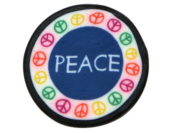 Peace Large Novelty Button Multi Color
