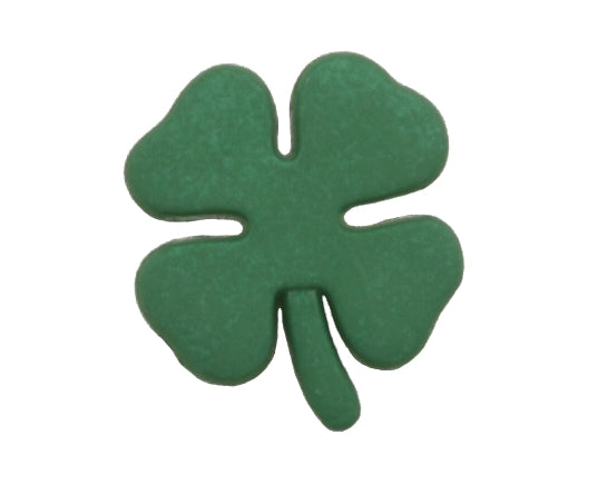 Irish Shamrock Large Novelty Button Green Color