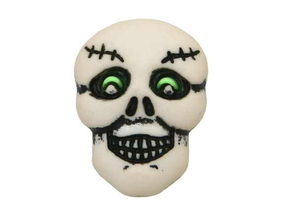 Buttons Galore Skull 3/4 inch Novelty Button White Color