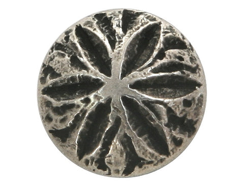 Sand Dollar 5/8 inch Metal Button Antique Silver Color