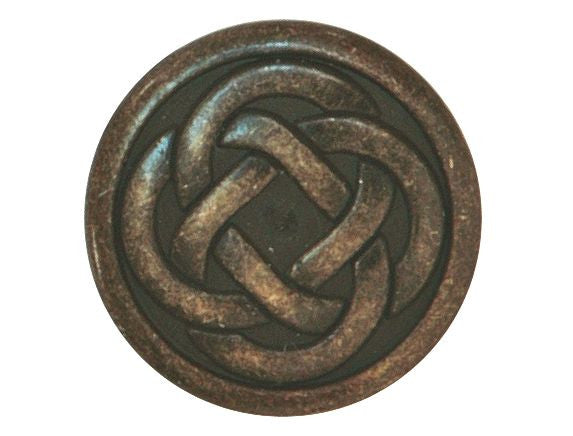 Celtic Knot 5/8 inch Metal Button Antique Brass Color