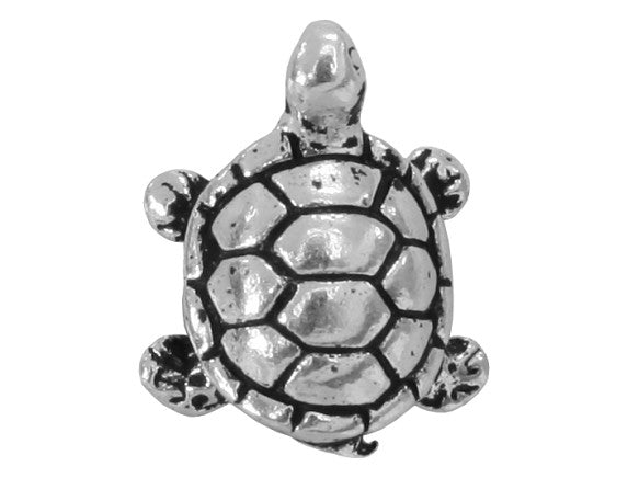 TierraCast Turtle 5/8 inch Silver Plated Pewter Bead