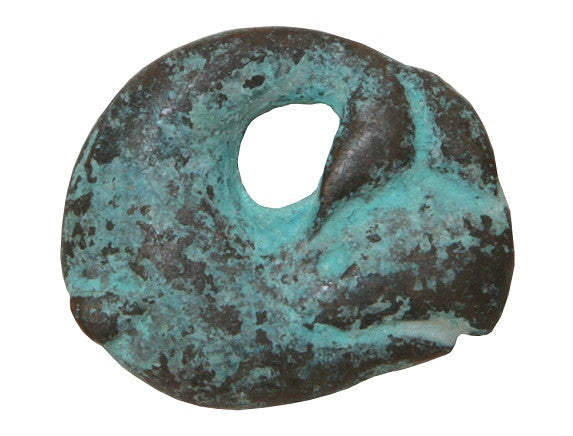 Mykonos Whale 7/8 inch Metal Pendant Copper / Green Patina