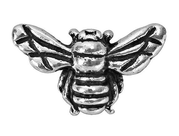 TierraCast Honey Bee 5/8 inch Silver Plated Pewter Bead