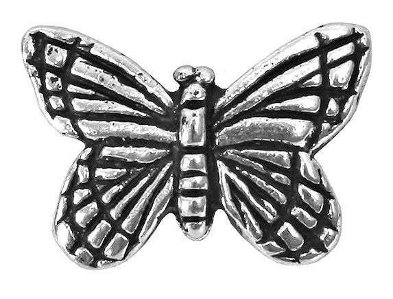 TierraCast Monarch Butterfly 5/8 inch Silver Plated Pewter Bead