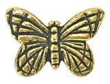 TierraCast Monarch Butterfly 5/8 inch Gold Plated Pewter Bead