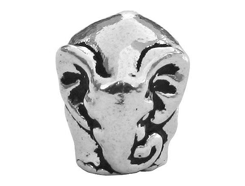 TierraCast Elephant<br> 7/16 inch Pewter Bead<br> Silver Plated Pewter Euro